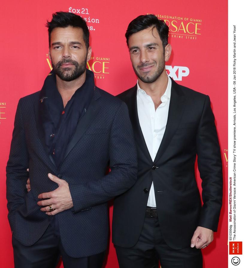 Ricky Martin z mężem /Invision /East News
