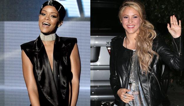 Rihanna i Shakira planują wspólny szturm na listy przebojów /Getty Images/Flash Press Media