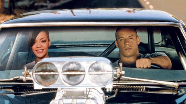 """Rihanna na przejażdżce z Vinem Dieselem. Będzie """"szybko i wściekle""""? - fot. The Sun /"""