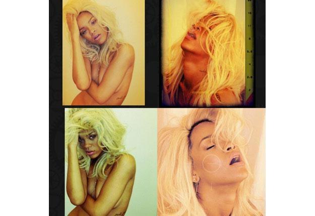 Rihanna: Naga blondynka /