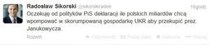 RMF24: Burza po wpisie Sikorskiego na Twitterze