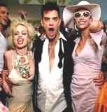 Robbie Williams z kandydatkami na żonę /INTERIA.PL
