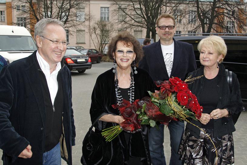 Robert Gliński, Claudia Cardinale, Tomasz Raczek, Magdalena Zawadzka  /Andrzej Engelbrecht /AKPA