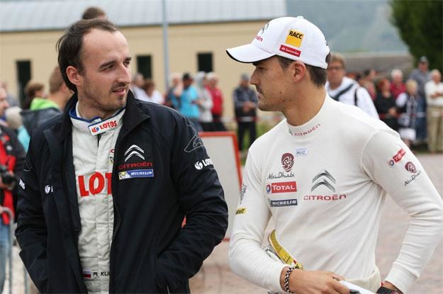 Robert Kubica  i Dani Sordo, dwaj  zwycięzcy Rajdu Niemiec /AFP