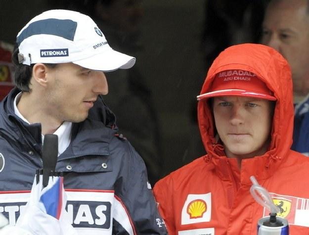 Robert Kubica i Kimi Raikkonen /AFP
