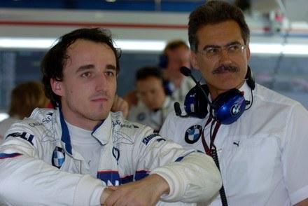 Robert Kubica i Mario Theissen / Kliknij /INTERIA.PL