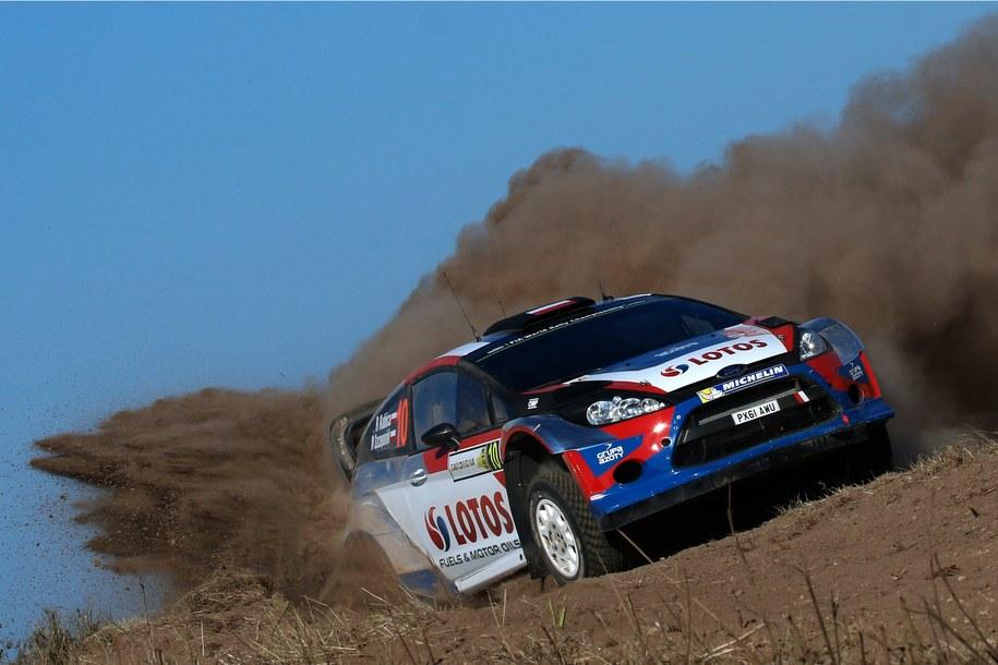 Robert Kubica na trasie odcinka testowego /Panoramic/Andre Lavadinho /PAP