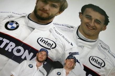 Robert Kubica (z prawej) i Nick Heidfeld zostają w BMW /AFP