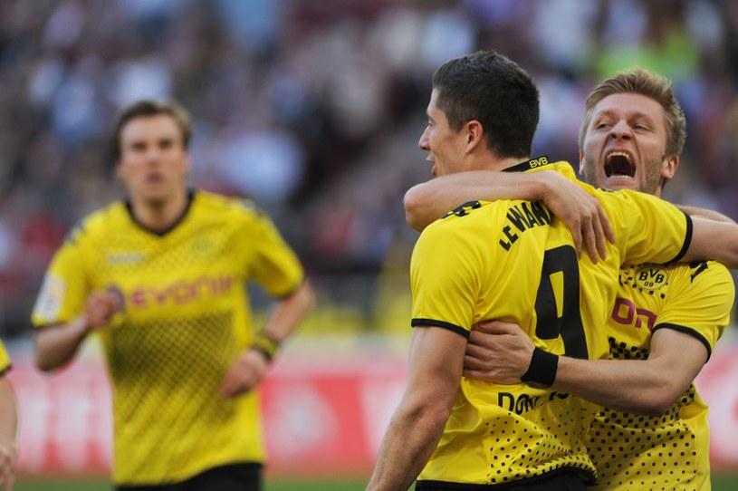 Robert Lewandowski i Jakub Błaszczykowski strzelili po golu w meczu z Bayerem Leverkusen /AFP