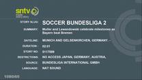 Robert Lewandowski strzelił dwa gole w meczu Bayern Monachium - Werder Brema. Wideo