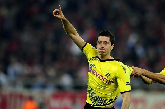 Robert Lewandowski strzelił pierwszego swojego gola w Lidze Mistrzów /AFP