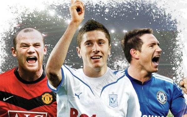 Robert Lewandowski w doborowym towarzystwie na okładce gry FIFA 10 /Informacja prasowa