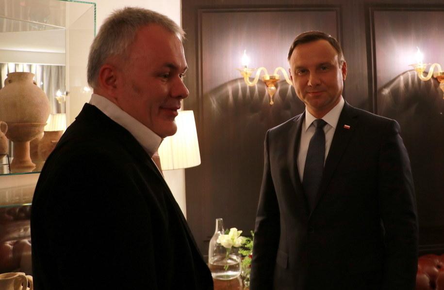 Robert Mazurek z prezydentem RP Andrzejem Dudą /Michał Dukaczewski /RMF FM