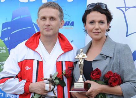 Robert Moskwa i Małgorzata Pieńkowska, czyli serialowi Artur i Maria / fot. Andras Szilagyi /MWMedia