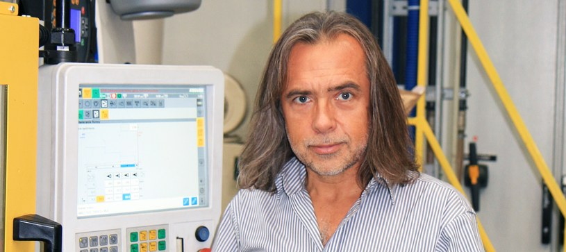 Robert Podleś, prezes firmy Cobi w fabryce w Mielcu /materiały prasowe