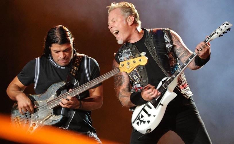 Robert Trujillo i James Hetfield (Metallica) /TASSO MARCELO  /arch. AFP