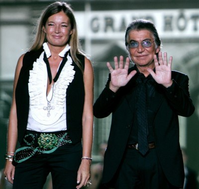 Roberto Cavalli z żoną Evą /AFP