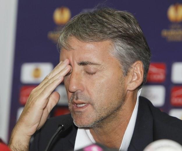 Roberto Mancini ma prawdziwe utrapienie z gwiazdami Man City /AFP