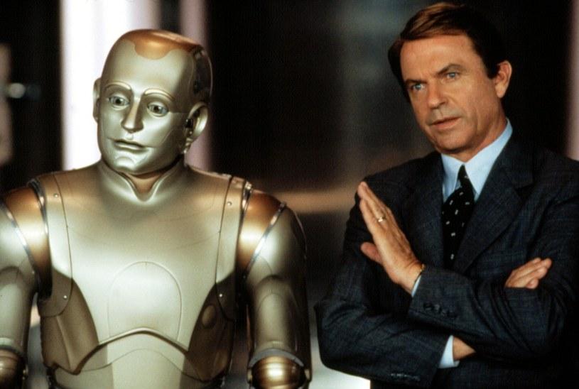 """Robin Williams z Samem Neillem w """"Człowieku przyszłości"""" /materiały prasowe"""