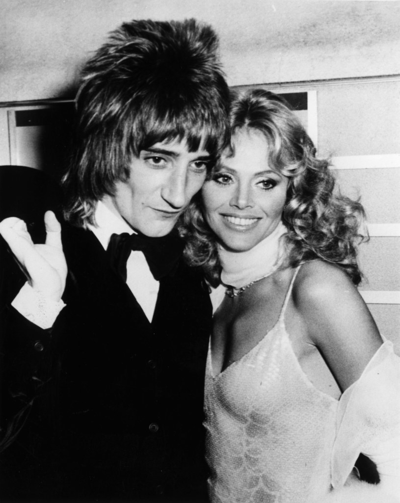 Rod Stewart i Britt Ekland w 1975 r. /Keystone /Getty Images