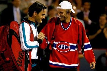 Roger Federer i Frederic Niemeyer. /AFP