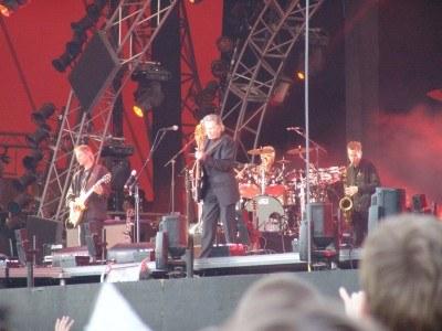 Roger Waters z zespołem /INTERIA.PL