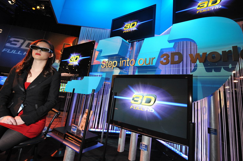 Rok 2010, targi CES w Las Vegas. Wtedy technologia 3D dla telewizorów była obecna wszędzie /AFP