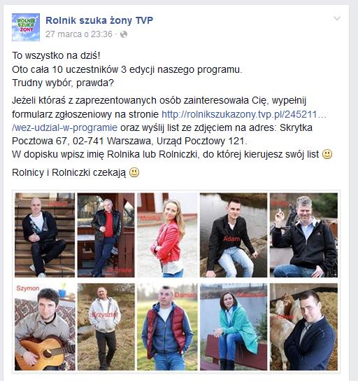 Rolniczki i rolnicy czekają na listy /Facebook