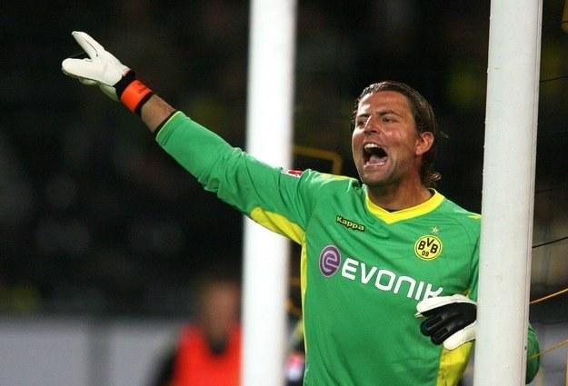 Roman Weidenfeller - etatowy bramkarz Borussii Dortmund /AFP