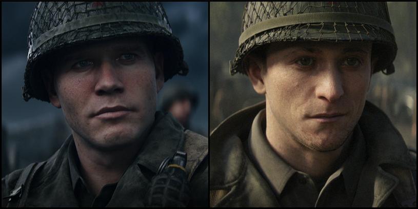"""Ronald """"Red"""" Daniels i Robert Zussman - główni bohaterowie Call of Duty: WWII, w których wcielili się Pawłowski i Sabat /materiały prasowe"""
