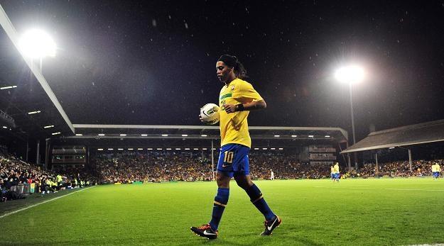 Ronaldinho podczas meczu z Ghaną. /AFP