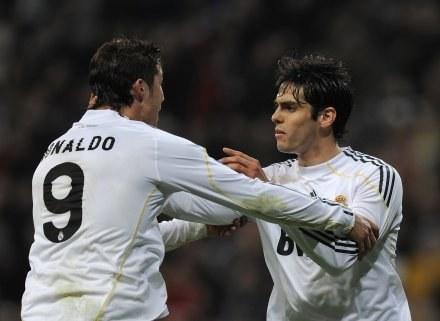 Ronaldo i Kaka wpisali się na listę strzelców /AFP