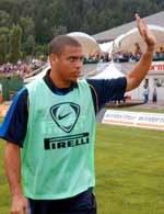 Ronaldo pozdrawia publiczność po zakończonym meczu