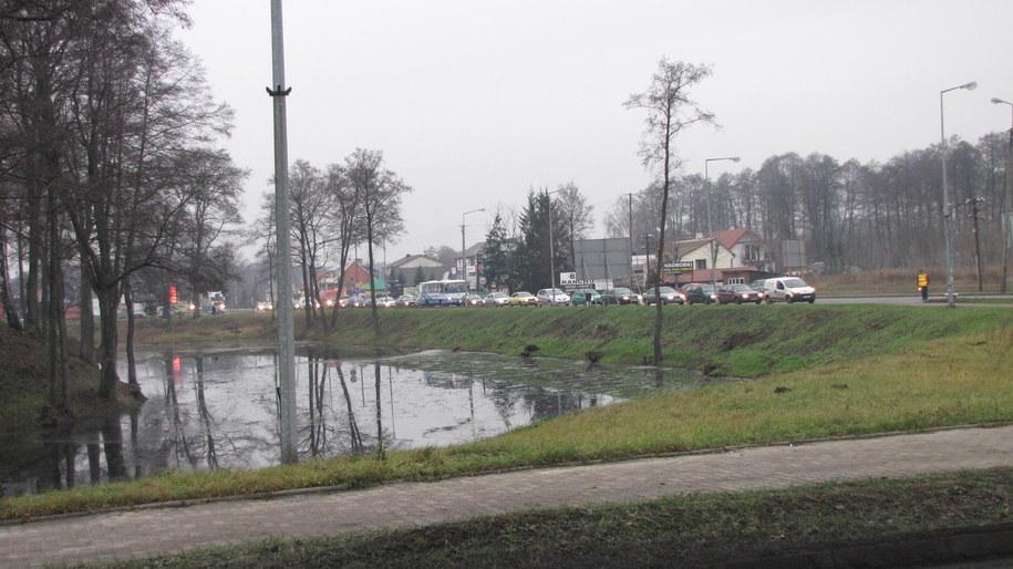 Rondo Księcia Siemowita Trzeciego  zablokowała firma budowlana /Monika Gosławska /RMF FM