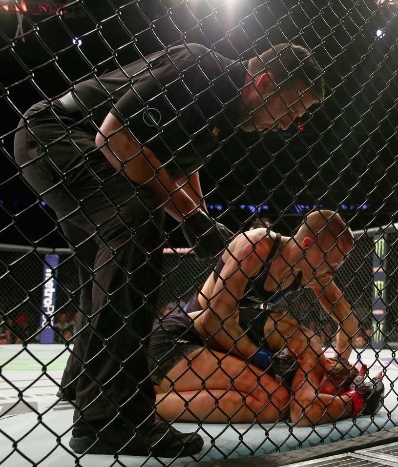 Rose Namajunas już w pierwszej rundzie pokonała Joannę Jędrzejczyk /AFP