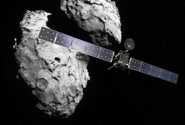 Rosetta na tle jądra komety 67P /materiały prasowe