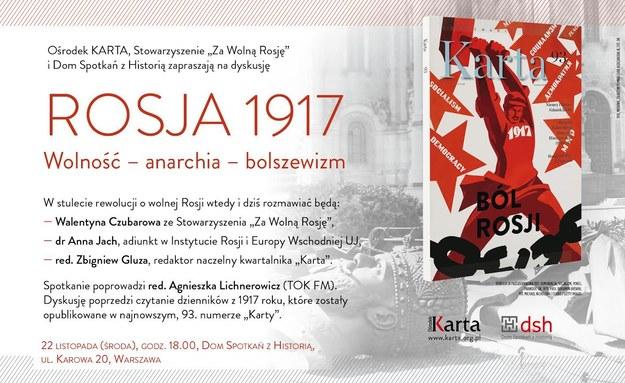 Rosja 1917. Wolność – anarchia – bolszewizm /materiały prasowe