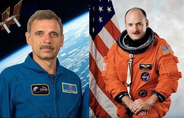 Rosjanin Michaił Kornijenko i Scott Kelly /NASA