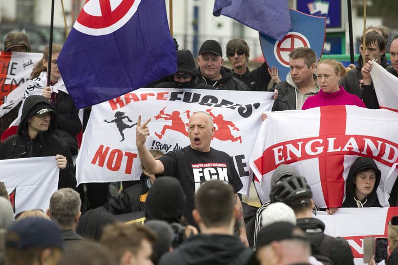 Rosnący radykalizm ultraprawicowy w Wielkiej Brytanii /AFP