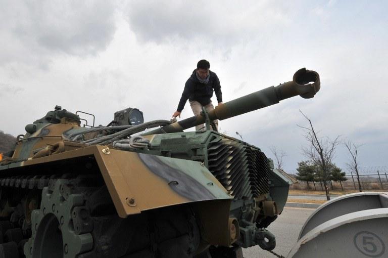 Rośnie napięcie na Półwyspie Koreańskim /AFP