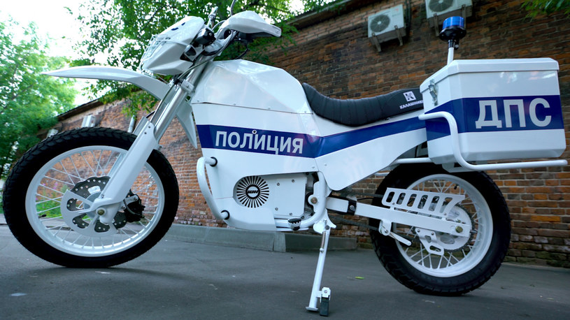 Rosyjski, elektryczny motocykl /
