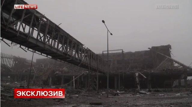 Rosyjski kanał Lifenews pokazał reportaż z ruin nowego terminalu /