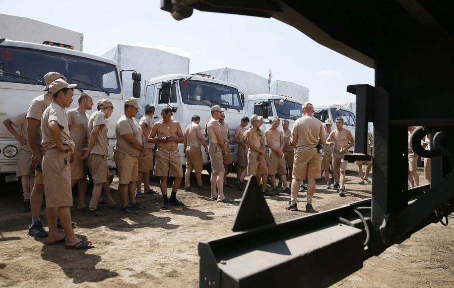 Rosyjski konwój na Ukrainę /YURI KOCHETKOV /PAP/EPA