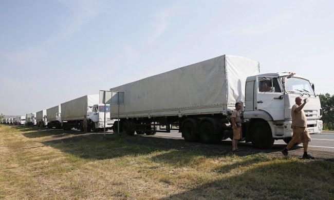 Rosyjski konwój /YURI KOCHETKOV /PAP/EPA