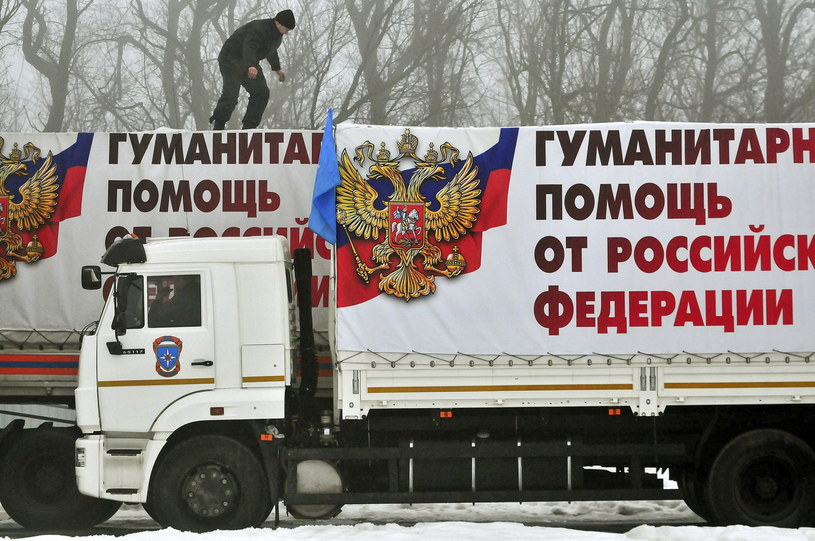 Rosyjski konwój /PAP/EPA