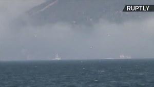 Rosyjski okręt wojenny zatonął po zderzeniu ze statkiem handlowym