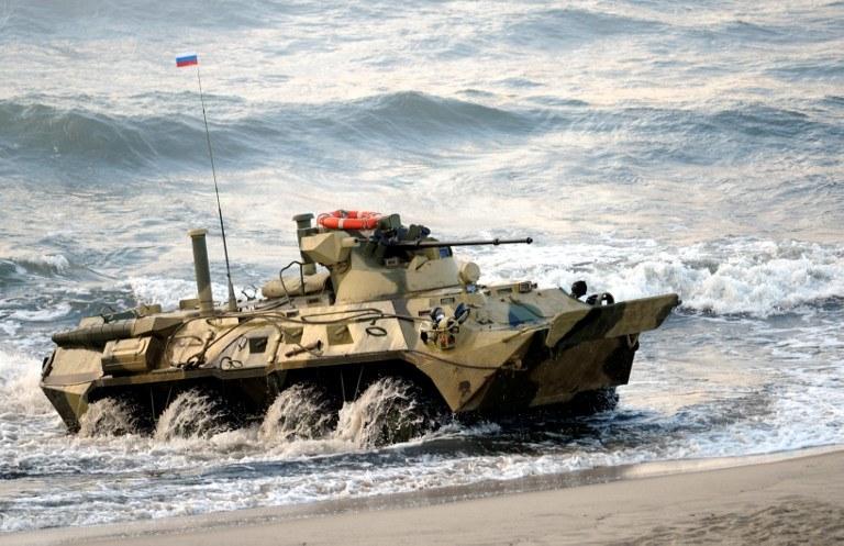 Rosyjski sprzęt wojskowy w Kaliningradzie, zdj. ilustracyjne /ALEXEY DRUZHININ / RIA-NOVOSTI / AFP /AFP