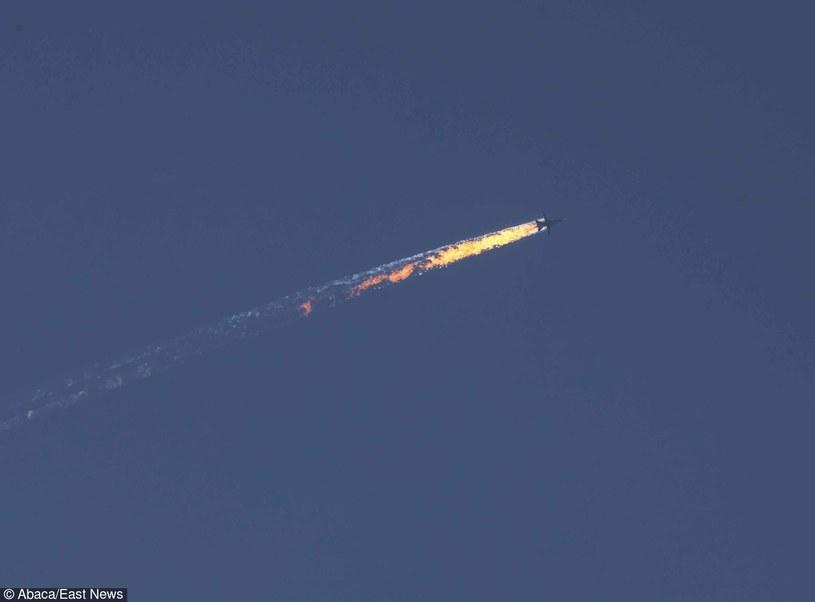 Rosyjski SU-24 zestrzelony nad Syrią /East News
