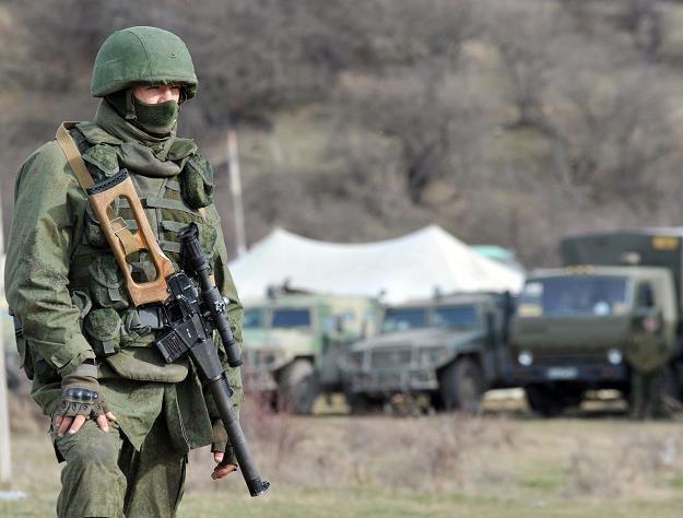 Rosyjski żołnierze dokonali zbrojnej agresji na terenie Ukrainy... /AFP