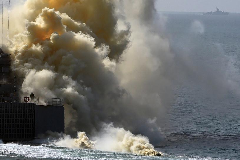 Rosyjskie okręty podczas strategicznych ćwiczeń Kaukaz 2016 na zaanektowanym Krymie /VASILY MAXIMOV /AFP